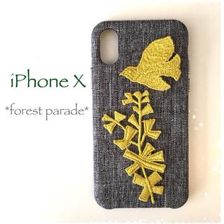 ミナペルホネン(mina perhonen)のforest parade*iPhoneX*(スマホケース)