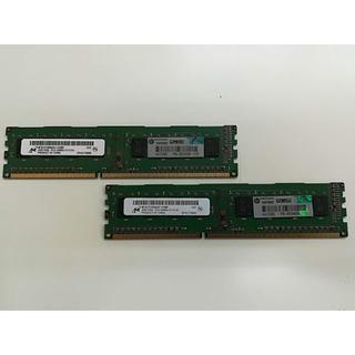 ヒューレットパッカード(HP)の【中古】デスクトップPC用メモリ 4GB(2GB×2)(PCパーツ)