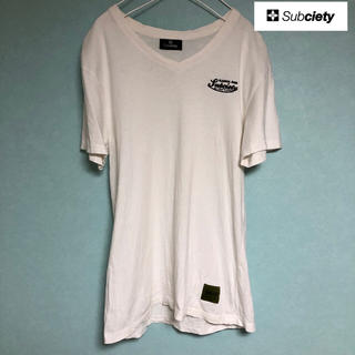 サブサエティ(Subciety)のsubciety Tシャツ 刺繍ロゴ ホワイト(Tシャツ/カットソー(半袖/袖なし))