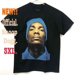 スヌープドッグ(Snoop Dogg)の ビッグシルエット♪ 3XL相当 新品 スヌープドッグ フェイス Tシャツ 黒(Tシャツ/カットソー(半袖/袖なし))