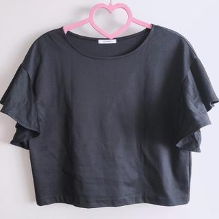 エルフォーブル(ELFORBR)のエルフォーブル袖口フリルカットソーTシャツ(カットソー(半袖/袖なし))