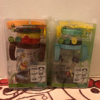 ディズニー(Disney)の新品未使用 ストローマプーさディズニー ミッキー 子供 水筒 値下げ(マグカップ)