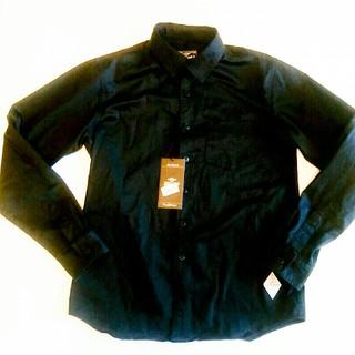 クライミー(CRIMIE)のCRIMIE クライミー スペシャルエフェクト 長袖シャツ 刺繍入りブラック M(シャツ)