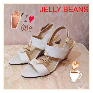ジェリービーンズ(JELLY BEANS)の【新品】ジェリービーンズ ウェッジソールサンダル(サンダル)