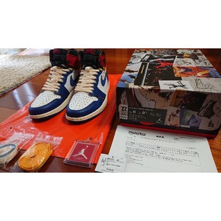 ナイキ(NIKE)のNIKE AIR JORDAN1 RETRO HI NRG UNION 黒タグ有(スニーカー)