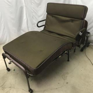 アテックス電動リクライニングベッド●折り畳み介護ベッド AX-BE634N(簡易ベッド/折りたたみベッド)