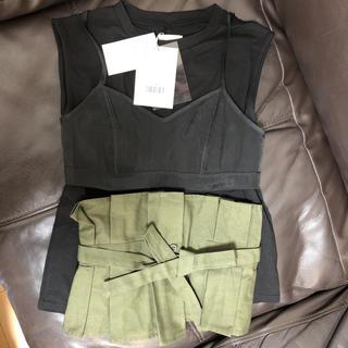 アメリヴィンテージ(Ameri VINTAGE)のアメリ 2way wide belt top(Tシャツ(半袖/袖なし))