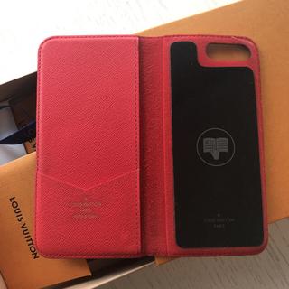 ルイヴィトン(LOUIS VUITTON)のルイ  ヴィトン ★ iPhone 7plus スマホケース モノグラム RED(iPhoneケース)