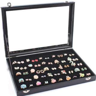 リングケース 指輪 ベロア調 ベルベット ピアスケース 100個 (マガジンラック)