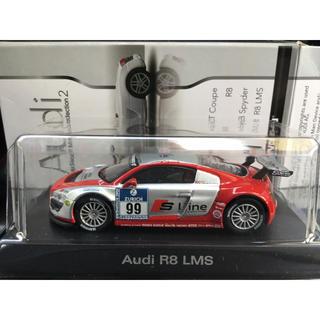 アウディ(AUDI)の京商 1/64 アウディ Audi R8 LMS No.99 シルバー/レッド(ミニカー)