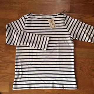 無印良品 オーガニック コットン ボーダーカットソー Tシャツ 白 黒