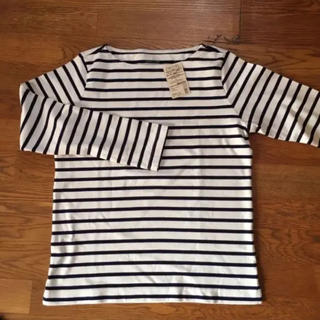 MUJI (無印良品) - 無印良品 オーガニック コットン ボーダーカットソー Tシャツ 白 黒