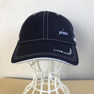 プリンス(Prince)のプリンス レディースキャップ 紺フリー 定価4860円 PH599E(ウェア)