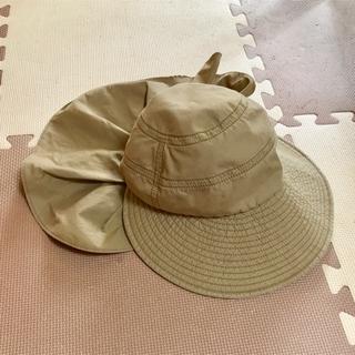シマムラ(しまむら)の帽子 ハット 日除け付き ベージュ レディース 56cm 〜 58cm(ハット)