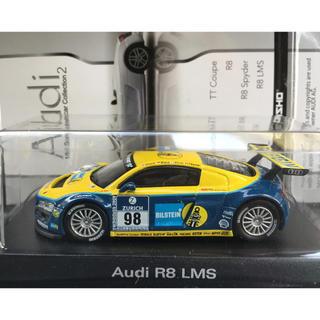 アウディ(AUDI)の京商 1/64 アウディ Audi R8 LMS No.98 ブルー/イエロー(ミニカー)
