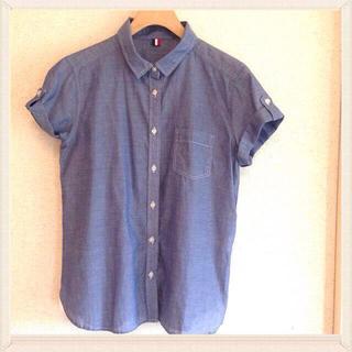 ジーユー(GU)の【りんご様】GU タンガリーシャツ(シャツ/ブラウス(半袖/袖なし))