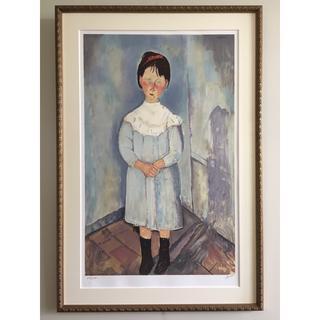 モディリアーニ 『青い服の少女』(版画)