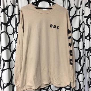 """ハフ(HUF)のNAS """"EYE"""" L/S T-SHIRTS(KHAKI)  Lサイズ(Tシャツ/カットソー(七分/長袖))"""