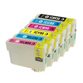 EPSON - エプソン互換インク(ICチップ付) IC6CL50 6色セット EPSON