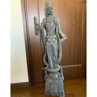 特大 観音様 石像風 仏像 91cm 大型 女神像 マリア像 美術品(彫刻/オブジェ)