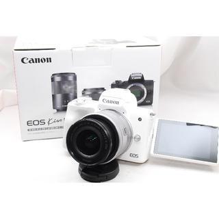 Canon - ♡新品&WiFi&自撮り♡Canon kiss M レンズキットホワイト