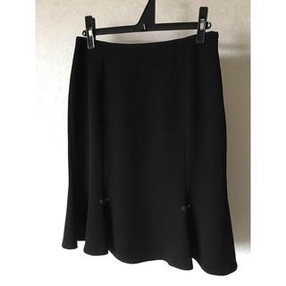 イタリヤ(伊太利屋)の❤︎伊太利屋❤︎ 膝丈スカート  黒 ブラック 9号(ひざ丈スカート)