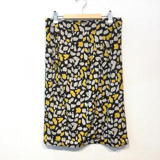 ヴァンドゥーオクトーブル(22 OCTOBRE)の22OCTOBRE 東京スタイル 柄 巻きスカート風 ひざ丈スカート(ひざ丈スカート)