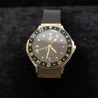 【OH&電池交換済み】HUBLOT MDM GMT 腕時計 メンズ レディース(腕時計(アナログ))
