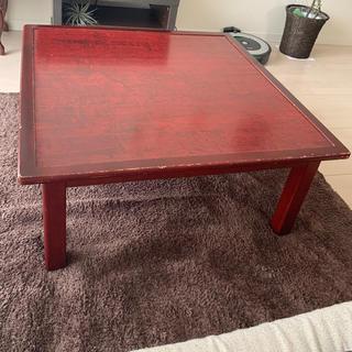 ローテーブル 正方形 アンティーク(ローテーブル)