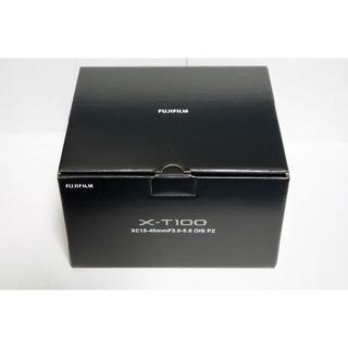 フジフイルム(富士フイルム)の新品 富士フィルム X-T100 レンズセット ブラック(ミラーレス一眼)