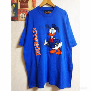 Disney - Disney ドナルド個性派古着vintage半袖ゆるだぼTシャツ ワンピース