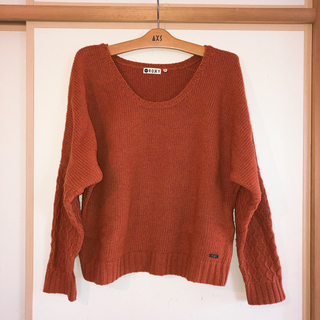 ロキシー(Roxy)のROXY Sweater セーター ニット オレンジ(ニット/セーター)