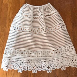 チェスティ(Chesty)のチェスティ   レース  スカート  白  1  chesty  美品(ロングスカート)