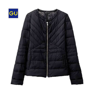 ジーユー(GU)のGU ライト中綿ノーカラージャケット XL(ノーカラージャケット)