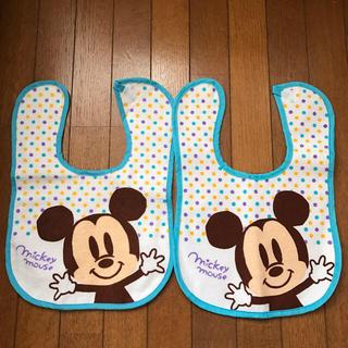 ミッキーマウス(ミッキーマウス)の美品☆ミッキーのスタイ(ベビースタイ/よだれかけ)