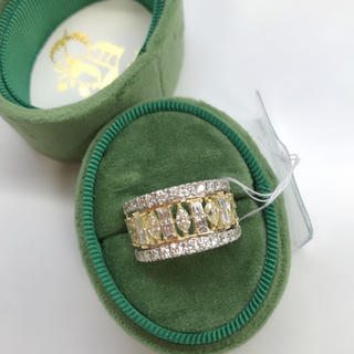 天然ダイヤモンド バゲット マーキースダイヤモンド リング プラチナ 18k(リング(指輪))