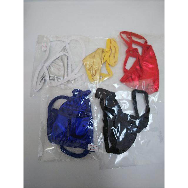 お得なメタリック5色セット Tバック コスプレ レディース セクシー 新品 エンタメ/ホビーのコスプレ(コスプレ用インナー)の商品写真