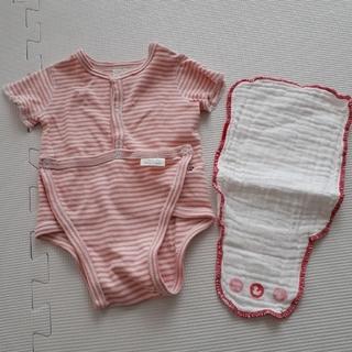 14bc6fce4b587 ベビーズオウン(Baby s Own)のロンパースと汗取りパットのセット 70(ロンパース)