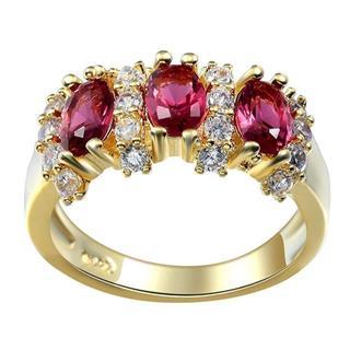 ジュエリー  指輪 ・赤い キュービックジルコニア レディース(リング(指輪))