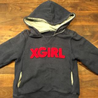 エックスガールステージス(X-girl Stages)のx-girl stages パーカー3T(Tシャツ/カットソー)