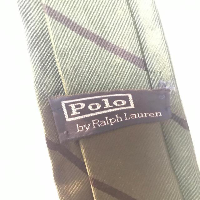POLO RALPH LAUREN(ポロラルフローレン)のキッズ 子供用 ネクタイ グリーン 深緑 ポロ ラルフローレン キッズ/ベビー/マタニティのキッズ服 男の子用(90cm~)(ドレス/フォーマル)の商品写真