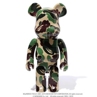 A BATHING APE - ベアブリック  BE@RBRICK ABC CAMO グリーン  1000%