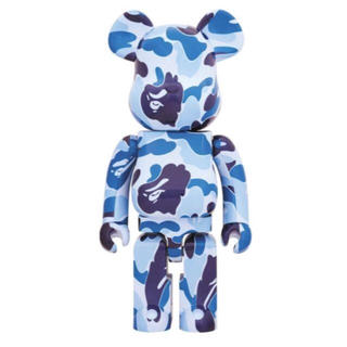 A BATHING APE - ベアブリック  BE@RBRICK ABC CAMO ブルー  1000%