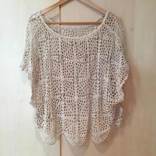 エージープラス(a.g.plus)のa.g.plus かぎ編みニットTシャツ(カットソー(半袖/袖なし))