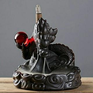 ドラゴン 龍の香炉 赤い玉(お香/香炉)