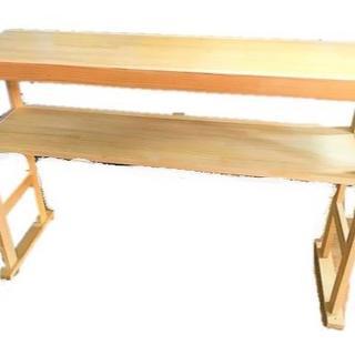 ナチュラルWOOD カウンター 作業台 テーブル (バーテーブル/カウンターテーブル)