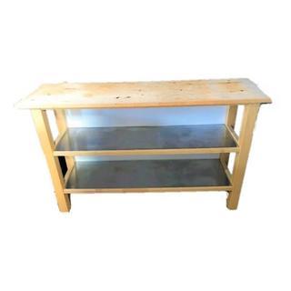 IKEA カウンターテーブル キッチンカウンター 棚板耐熱アルミトップ(バーテーブル/カウンターテーブル)