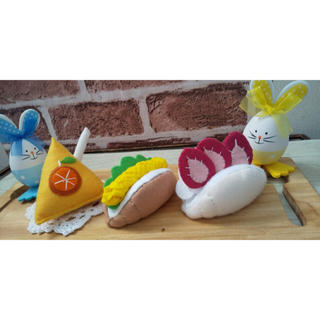 フェルトままごと 【春のランチセット】(おもちゃ/雑貨)