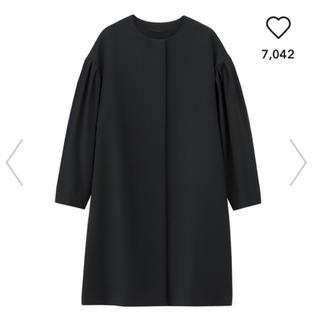 ジーユー(GU)のGU ボリュームスリーブコート ブラック Mサイズ(スプリングコート)