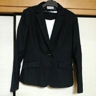 タカキュー(TAKA-Q)の黒のパンツスーツ13号、タカキューLサイズ(スーツ)